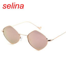 Descuento gafas de sol púrpura Los más nuevos hombres cuadrados de la vendimia de las gafas de sol de la vendimia marcan las gafas claras rosadas púrpuras eyewear UV400 de los hombres del capítulo del metal de los vidrios de Sun del marco 2017