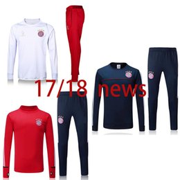 free shipping top quality 2018 Soccer jerseys Men's Jackets+Pants Sport Clothes Jogging Football Training Suit Fashion Outerwear Tracksuit