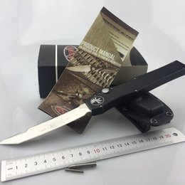 Microtech HALO V 150-10 T E Outdoor tools H5 CNC alumium handle D2 blade Tanto Edge Tactical survival hunting camping tools knife