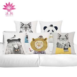 muchun Brand Cartoon Animals Halloween Cotton&Linen Sofa Pillow Cover 45*45 cm Christmas Thicken Home Decorative Party Throw Pillow Case