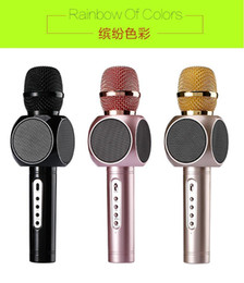 Wholesale Best Sound E103 design karaoke microphones speaker magic microphone HANDLED MIC best quality singing songs conference player promotion