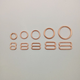 Various size of bra rings and sliders 50 sets   lot in rose gold free shipping