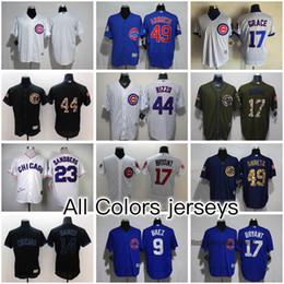Chicago Cubs 40 colors Baseball Jerseys FLEX BASE Jerseys Kris Bryant Anthony Rizzo Jake Arrieta Kyle Schwarber Javier Baez Ryne Sandberg