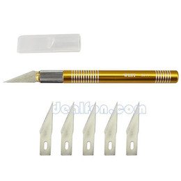 Wholesale 5 Stainless Blades High Pricision Aluminum Handle Wood Fruit Craft Sculpture PCB Repairing Carving Knife