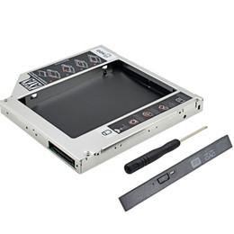 Descuento una caja portadiscos disco Venta al por mayor-2016 Chipconn PATA IDE original de Foxconn a SATA III 2do HDD Caddy 12.7mm para la caja del disco duro del caso de 2.5