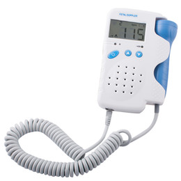 Free Shipping New Arrival Brand New CE Fetal Doppler 3MHz with LCD Display Fetal Monitor Free Gel