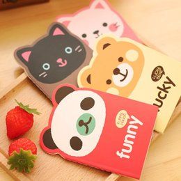 Wholesale 1 Pics X cm Korean Animal Panda Cat Bear Kawaii Mini Notepad Cute Notebook Cartoon Note Book Small School Supplies For Kid