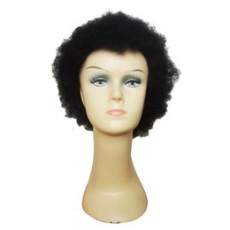 Cool Charming Afro Kinky Wig Free Shiiping Cheap Short Black Kinky Curly Wigs Perfect Hair Wigs