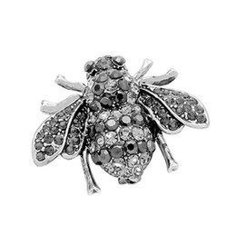 Wholesale Cute Beauty Women s Little Bee Crystal Brooch Pin