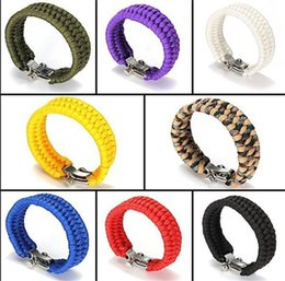 2017 New Brand Hot Sale High Quality Ultimate Paracord Survival Kit Bracelet With Metal Buckle For Kids Men