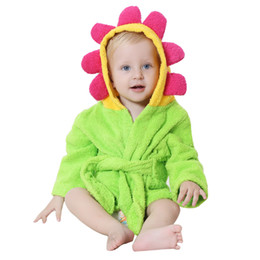 MICHLEY Bathrobe Towels Cotton Hooded 7 Colors Beautiful Animal Style Baby Bathrobe Kids Washcloth Pajamas Clothing