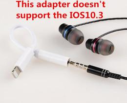 IPhone7 más auriculares convertidor adaptador de cable 3,5 mm aux auriculares de audio conector a la iluminación conector macho cable de carga para el iPhone 7 desde cargos cables iphone fabricantes
