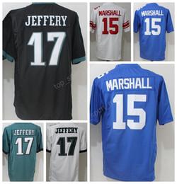 Promotion maillots de sport Dernières 17 Alshon Jeffery Jersey Hommes Football Américain 15 Brandon Marshall Maillots Sports Tout Cousu Equipe Couleur Noir Vert Blanc Bleu