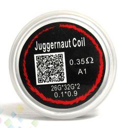 Juggernaut Coil Heating Wires Resistance 0.35ohm sold by pc 26G*32G*2 Resistance Juggernaut Wire Fit RDA RBA E Cigarette DHL Free