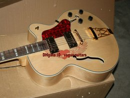 JAZZ Electric Guitar Custom hollow jazz Guitar in Natural color Metal Music A12