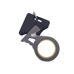 Wholesale EDC Gear Utility Hook Blade Key Chain Ring Thumb Grip Rope Cutter Seatbelt Cutter Accident Outdoor Survival Equipment
