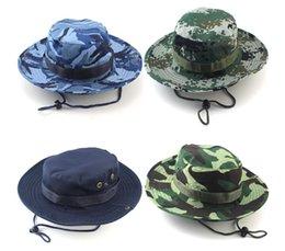 2017 cap arrondi pour les hommes 45 Pcs Fashion Foldable Round Hat Camouflage Jungle Cap Camping Mountaineering Chapeau de pêche en plein air Hat Bucket été à la fois pour hommes et femmes cap arrondi pour les hommes sur la vente