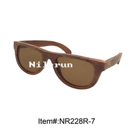 fashionable brown polarized lenses wooden sunglasses