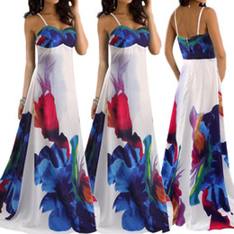 Wholesale Europe Station Summer Beach Party Sleeveless Printing Tube Top Camisole Reveal Back L Dress Marc Western Full The new listing Best