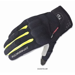 Wholesale 2017 New KOMINE GK mesh knight riding gloves motorcycle motorbike Moto racing gloves colors size M L XL XXL