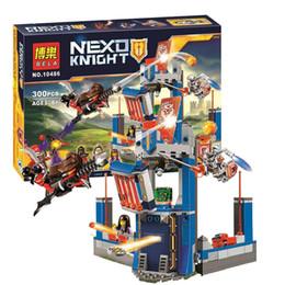 2016 3D construcción de plástico 300 Pcs Knights Castillo Building Blocks Biblioteca de Merlok 2.0 Figuras constructibles juguetes para los niños Nexus desde plástico nexo proveedores
