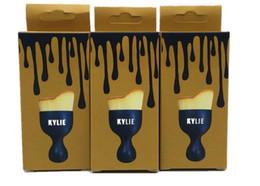 2016 outils gratuits d'expédition Kylie Maquillage Brosse Fondation Cosmétique BB Crème Poudre Blush Maquillage Outils Boîte en or noir kylie jenner brosse Livraison gratuite outils gratuits d'expédition offres