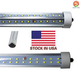 8ft v shaped single pin fa8 led tube 72W Double Sides smd 2835 Led Light Tubes 8ft led AC 85-265V UL DLC