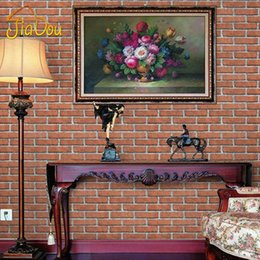 Wholesale Chinese Style D Antique Brick Pattern Self Adhesive Wallpaper Living Room Study Background Stone Brick Wallpaper Home Decor