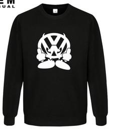 Wholesale New winter Men VW FACE Volkswagen Auto Printed Hoodies Apparel Sweatshirts Graphic Mens Cotton ApparelO Neck