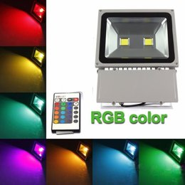 Descuento las luces de carga Luz de inundación de la venta al por mayor 100W LED 2 * 50w 2 leds blancos calientes del color RGB impermeable IP65 que cargan los proyectores al aire libre de la lámpara de los compartimientos 3 años de garantía