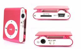 Mp3 mémoire lecteur 1gb en Ligne-Vente en gros - Lecteur MP3 portable en métal avec 8 couleurs Pas de lecteur de carte mémoire avec prise TF