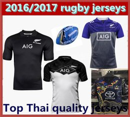Wholesale best quality New Zealand All Blacks Rugby Jersey Shirt Season Men s Cattle son New Zealand Rugby Football Jersey