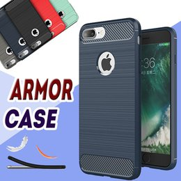 Wholesale Rugged Armor Hybrid Carbon Fiber Shockproof The Ultimate Experience Hard Case Cover for iPhone Plus S S MOQ