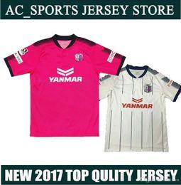 2017 J. Liga Urawa Cerezo Osaka camiseta de fútbol rosa, camiseta tailandesa de fútbol 16/17 Maillot De Foot Camisetas de fútbol pink football jerseys deals desde camisetas de fútbol de color rosa proveedores