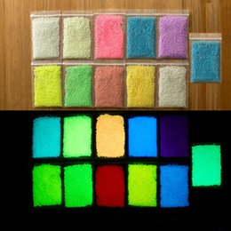 Wholesale color DIY Graffiti Paint Luminous Acrylic Glow in the Dark or phosphorescent pigment Sand Particles Party Walls