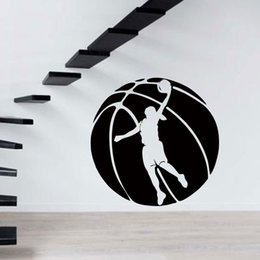 Cool Graphics Wall Decal Sport Girl Basketball Player Vinyl Sticker Ball Bedroom Living Room Emblem Gym Decor Diy