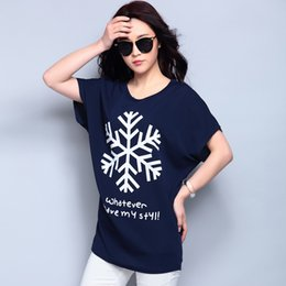Promotion t-shirt imprimé floral Femmes Tee Shirts Tout Match Loose Tops Bat Manches T-shirts Cool impression Batwing T-shirt à manches courtes O cou Hip Hop Tops TS-002