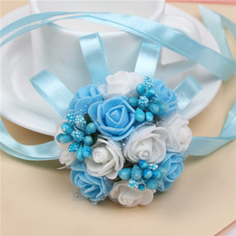 Wedding Bouquets For Brides Wrist Flowers Flower Brooch Hand Bouquet Wedding Accessary Wrist Corsage 7cm Festive Supplies Party Birthday