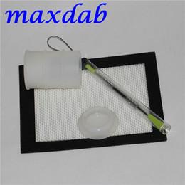 Promotion ensembles de batterie FDA a approuvé le récipient en tambour de silicone avec l'outil de dabber de mat de silicone pour l'herbe sèche vendu par l'ensemble entier