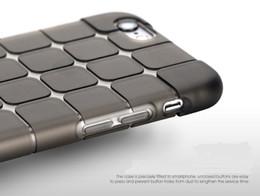 wholesale Cube plaid transparent Soft Tpu Gel Silicone Phone case cover For Iphone 6S 6 Plus 7 7 Plus