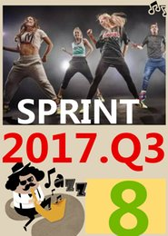 ON Top-sale 2017.7 July Q3 New Routine SPRINT 08 HIIT 30 Minutes Exercise Fitness Indoor Bicycle SPRINT08 SP08 DVD video + CD music