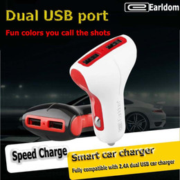 Wholesale Earldom factory direct car charger dual usb car enough A mobile phone speed car cigarette lighter a drag two charge head