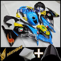 Wholesale ABS Fairing for Kawasaki ZX300R EX300 EX300 Aftermarket blue yellow black Motorcycle Body Kit