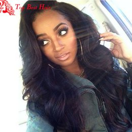 Wholesale Long Brown Wavy Wigs Prices - Wholesale Price Long Black Wavy Wig 150 Density Bleached Knots Full Lace Wig Brazilian Virgin Hair Glueless Lace Front Wigs With Baby Hair