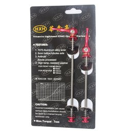 In Stock 48g black red blue color Ti skewers Quick release skewers Bike Cycling Titanium skewers free shipping