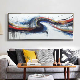 100% Handmade oil painting On Canvas Art Pictures abstract painting for Sofa Wall Decoration No Frame 50x86cm