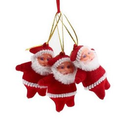 """Wholesale Clear Plastic Christmas Trees - 2"""" Small Santa Claus Christmas Tree Decoration Red & Colorful High Quality CHristmas Oldman Figurine for Christmas Party"""