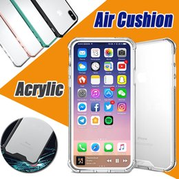 Air Cushion Acrylic Hybrid Soft TPU Clear Shockproof Armor Case Cover For iPhone XS Max XR X 8 Plus 7 6 6S Samsung Galaxy S9 S8 S7 Note A8