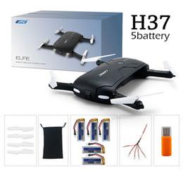 2017 vidéo rc La plus nouvelle JJRC originale H37 Gyro ELFIE WIFI FPV 720P HD de gyro à 6 axes RC Quadcopter pliable G-capteur Drone d'ego de RC RM7429 VS H31 vidéo rc sur la vente