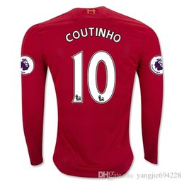 Wholesale Highest quality Liverpool Jersey best quality shirt Long sleeves black
